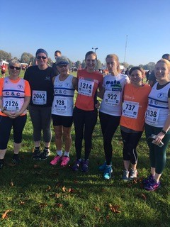Women's running group end of race March2019