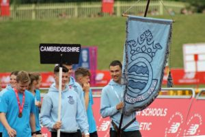 Cambs athletes participating in the parade