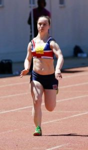 Charlotte Cox running for team GB
