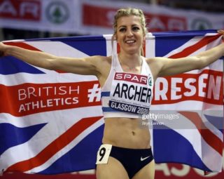Holly Archer wins silver medal at European Indoor Championships