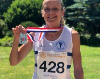 Victory for Stef Godfrey in the 2021 British Masters Half Marathon Championships 2021